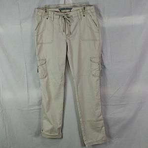 Levi's wide-leg khaki cargo pants size 8